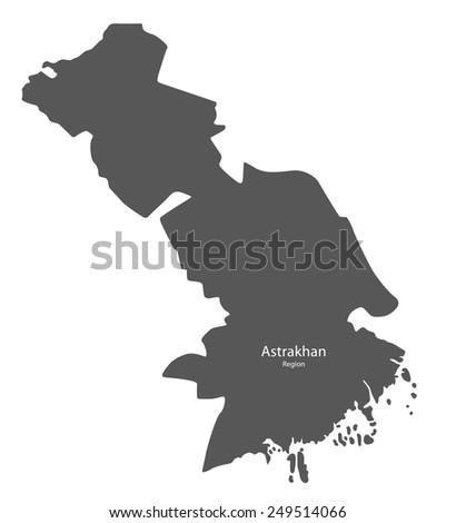 Map Astrakhan Region Russia Stock Vector 249514066 Shutterstock
