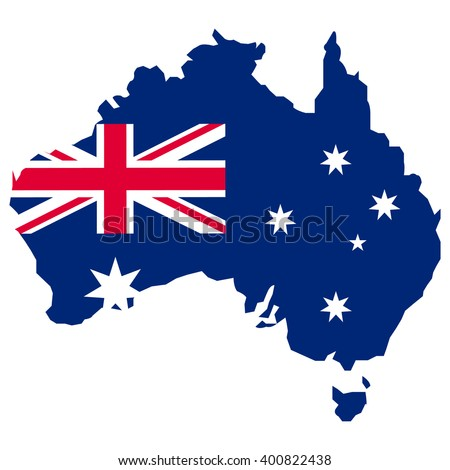map of australia map concept vector flag - stock vector
