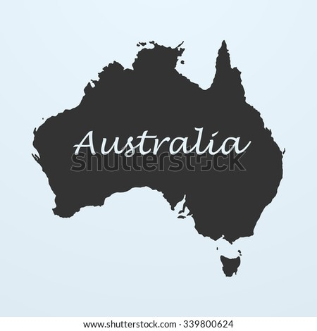 Map of Australia. Map symbol, Map element, Map sign, vector Map, Map picture, Map illustration, isolated Map, image Map, silhouette Map, Map design, Map graphic, Map contour, Map digital - stock vector