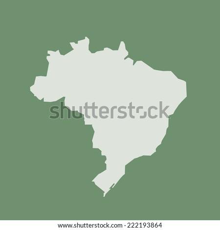 Map of Brazil vector - stock vector