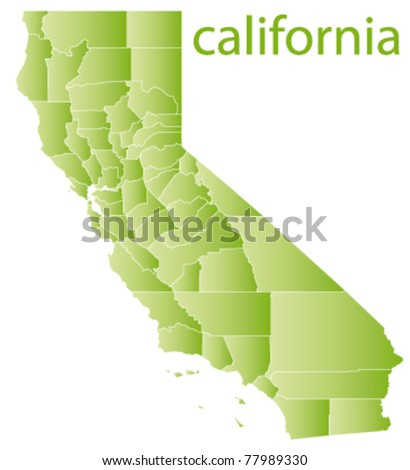 Map California State Usa Stock Vector (Royalty Free) 77989330 ...