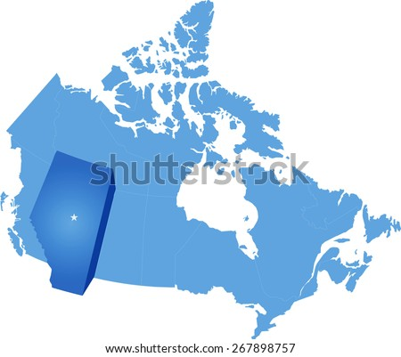 Alberta map stock images royalty free images vectors shutterstock map of canada where alberta province is pulled out publicscrutiny Choice Image