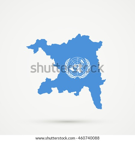 Map of  canton (country subdivision) of Aargau, Switzerland in United Nations flag colors