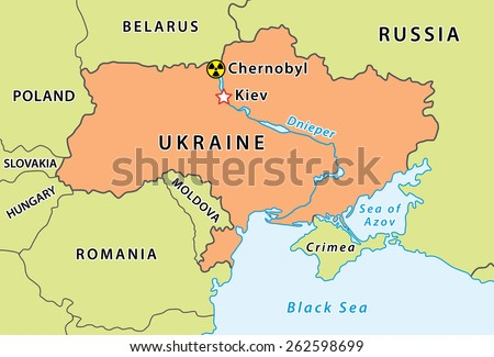 Map chernobyl disaster ukraine nuclear accident vector de map of chernobyl disaster in ukraine nuclear accident that occurred on 26 april 1986 gumiabroncs Image collections