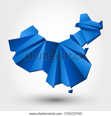 map of China. map concept - stock vector