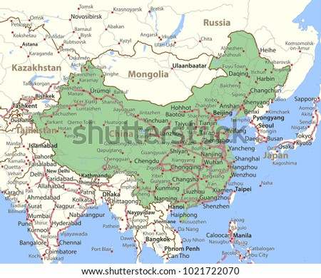 Map That Shows English Russia Map That Shows Iceland Map That - China political map in english