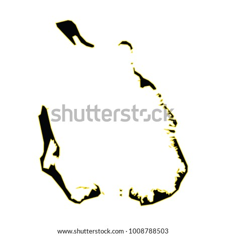 Map Cocos Keeling Islands High Detailed Stock Vector HD Royalty