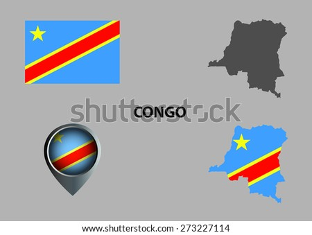 Map of Congo and symbol
