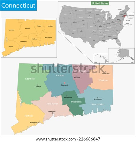 Connecticut Map Stock Images RoyaltyFree Images Vectors - Connecticut state map