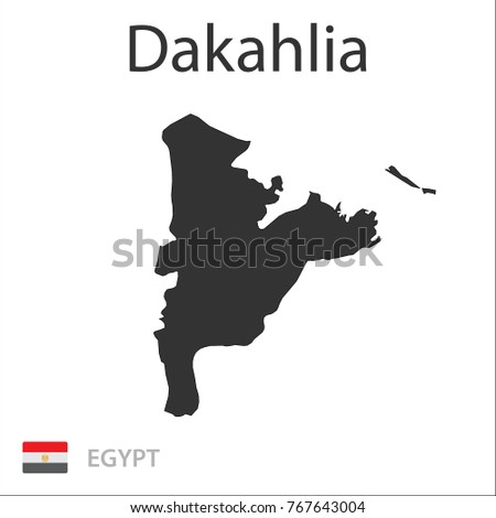 Map of Dakahlia. Vector illustration.