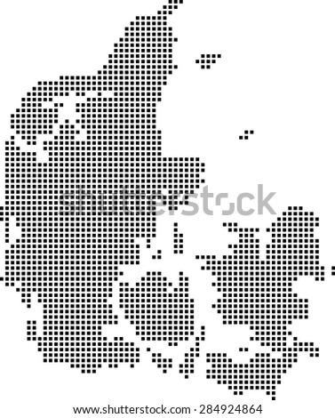 map of Denmark - stock vector