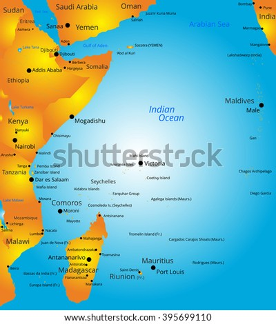 Indian Ocean Map Stock Images RoyaltyFree Images Vectors