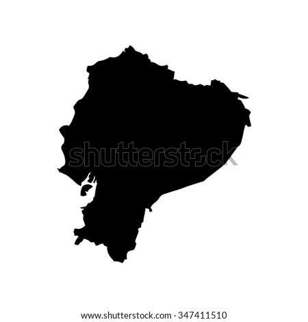 Map of Ecuador - stock vector