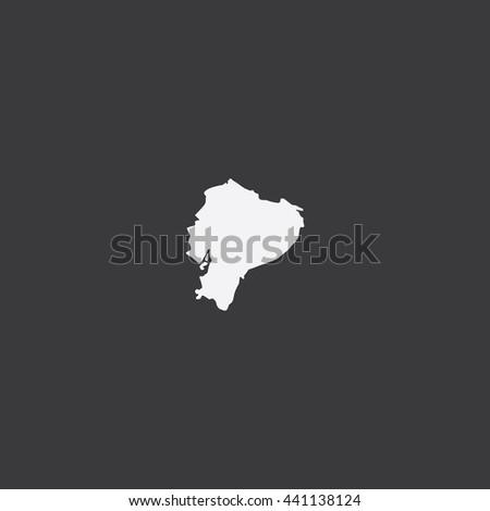 Map of Ecuador Vector Illustration - stock vector
