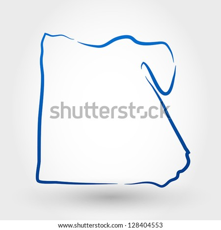 Map Egypt Map Concept Stock Vector Shutterstock - Map of egypt vector