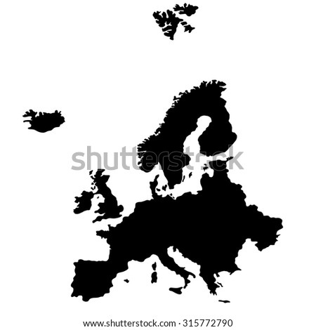 Map of Europe, illustration - stock vector