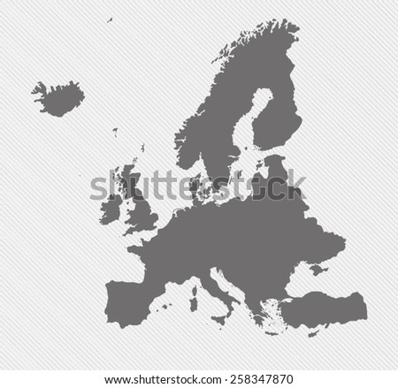 map of Europe on gray background - stock vector