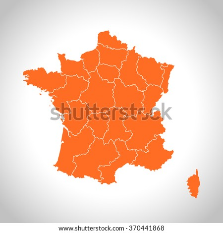 map of France - stock vector