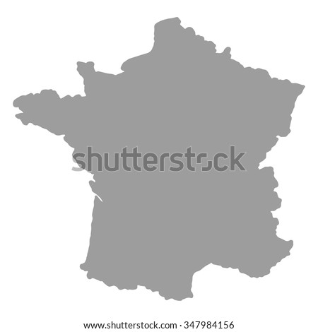 Map France Gray Silhouette On White Stock Vector - Where is france on the map