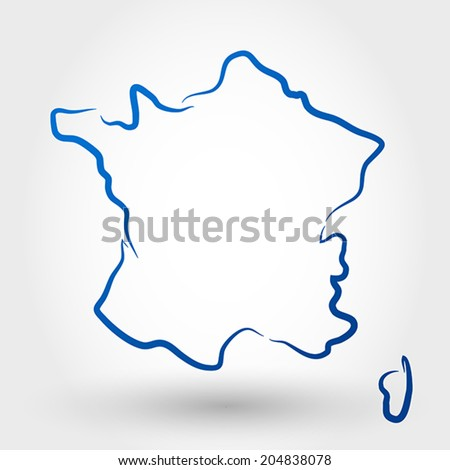 map of france. map concept - stock vector