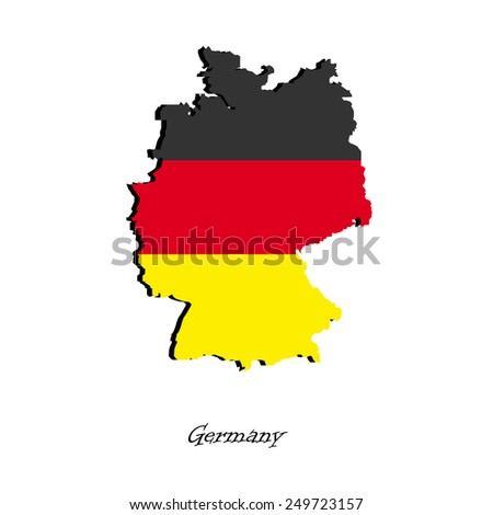 Map of Germany for your design, concept Illustration.
