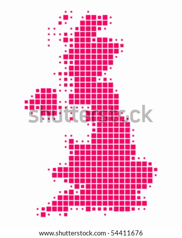 Map of Great Britain - stock vector