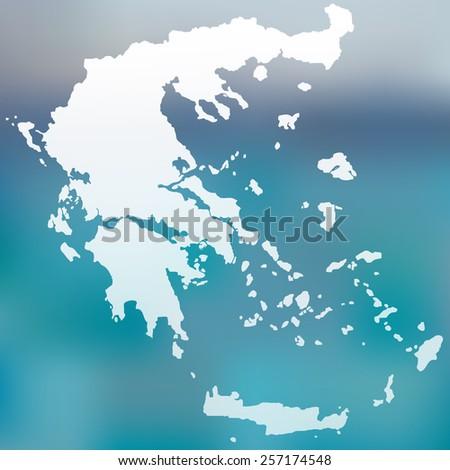 map of greece - stock vector