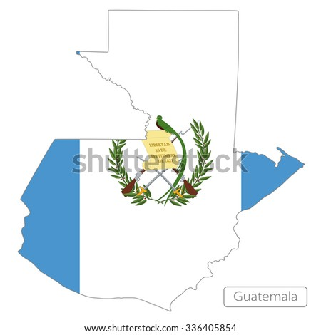 map of Guatemala with the flag. North America - stock vector