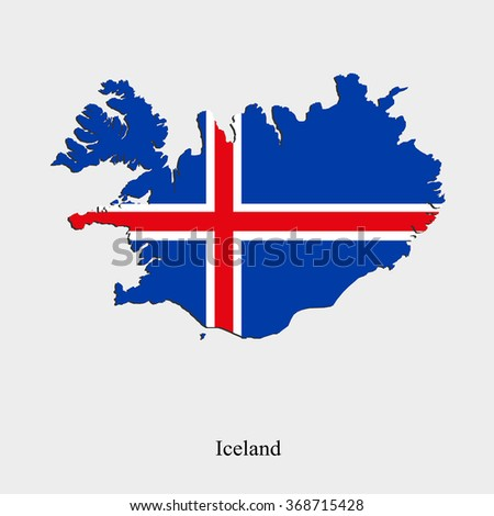 Map of Iceland for your design, concept Illustration.
