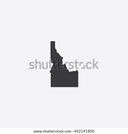 Map of Idaho Vector Illustration - stock vector