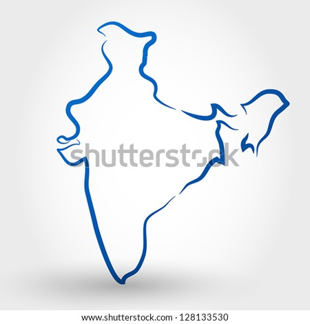 India Map Stock Images RoyaltyFree Images Vectors Shutterstock - India map