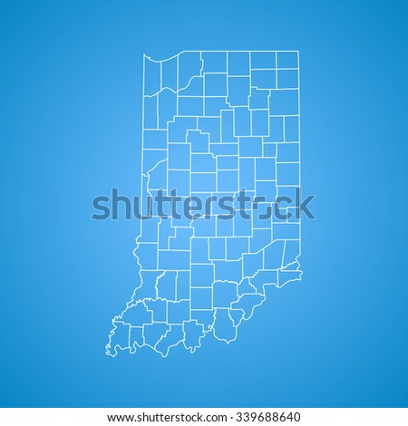 map of Indiana - stock vector
