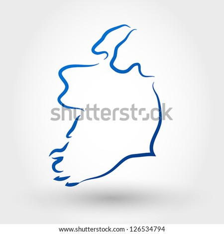 map of ireland. map concept - stock vector
