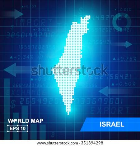 Map Of Israel,Abstract background, vector illustration - stock vector