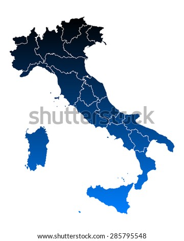 Map of Italy - stock vector