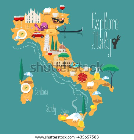 Italy Map Stock Images RoyaltyFree Images Vectors Shutterstock - Italian map