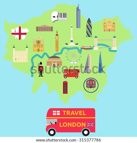 map of london attraction landmarkbridge big ben museum bus london