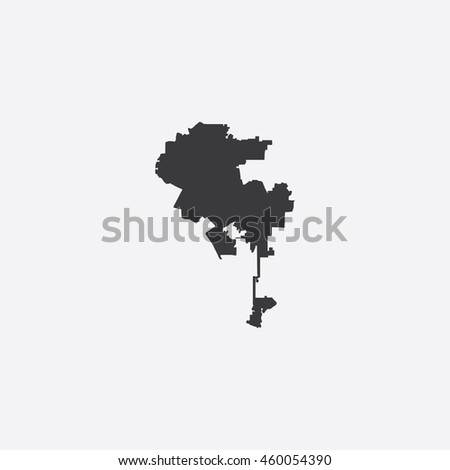 Map of Los Angeles City Vector Illustration - stock vector