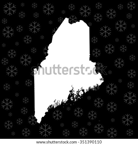 map of Maine - stock vector