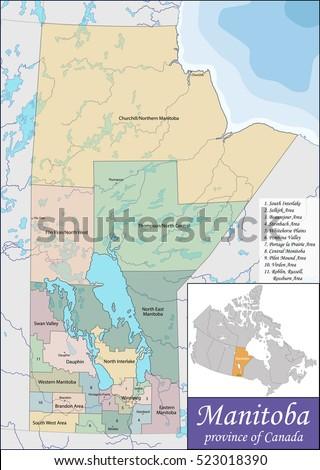 Manitoba Map Stock Images RoyaltyFree Images Vectors - Manitoba map