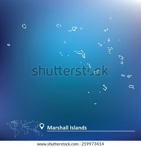 Map of Marshall Islands - vector illustration - stock vector