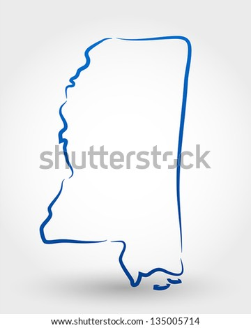map of mississippi. map concept - stock vector