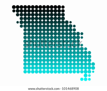 Map of Missouri - stock vector