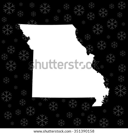 map of Missouri - stock vector