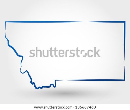 map of montana. map concept - stock vector