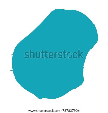 Map Nauru Blue Map Nauru Land Stock Vector Shutterstock - Nauru map vector