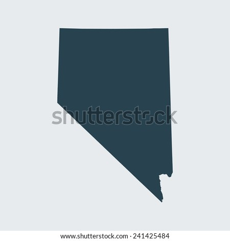 Orange Map Nevada Stock Vector Shutterstock - Mapofnevada