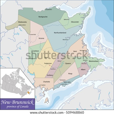 New Brunswick Map Stock Images RoyaltyFree Images Vectors - Map of new brunswick