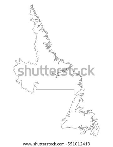 Newfoundland And Labrador Map Stock Images RoyaltyFree Images - Newfoundland and labrador map