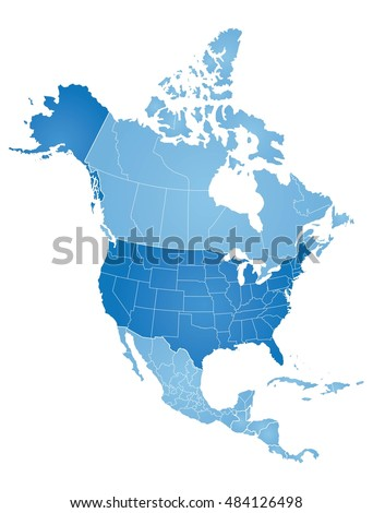 North America Map Stock Images RoyaltyFree Images Vectors - The north american map